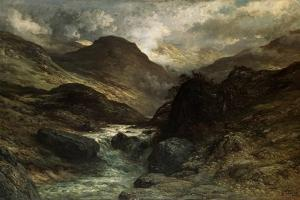 A Canyon, 1878 by Gustave Doré
