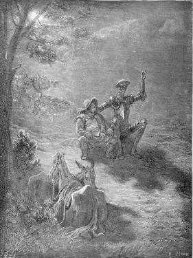 A Nocturnal Discourse, from 'Don Quixote De La Mancha' by Miguel Cervantes (1547-1616) Engraved… by Gustave Doré
