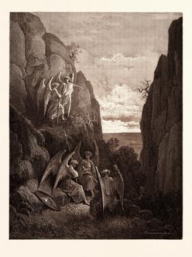 Ariel's Charge to Gabriel by Gustave Dore