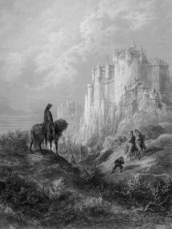 Camelot, Illustration from 'Idylls of the King' by Alfred Tennyson (Litho) by Gustave Doré
