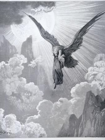 Dante and the Eagle, from 'The Divine Comedy' (Purgatorio) by Dante Alighieri (1265-1321)… by Gustave Doré