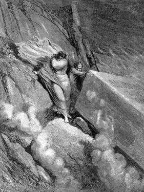 Dante and Virgil at the Edge of the Abyss from Which a Foetid Smell Steamed Up, 1863 by Gustave Doré