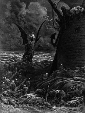 Death-Fires Dancing around the Becalmed Ship by Gustave Doré