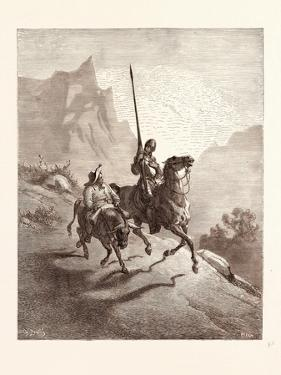 Don Quixote and Sancho Setting Out by Gustave Dore
