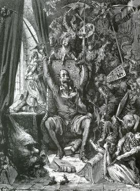 Gustave Dore (Don Quixote In His Library) Art Poster Print