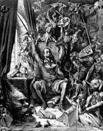 Don Quixote in his Library by Gustave Doré