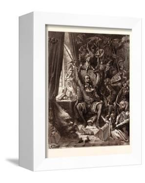 Don Quixote in His Library by Gustave Dore