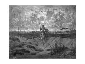 Don Quixote on Horseback by Gustave Doré