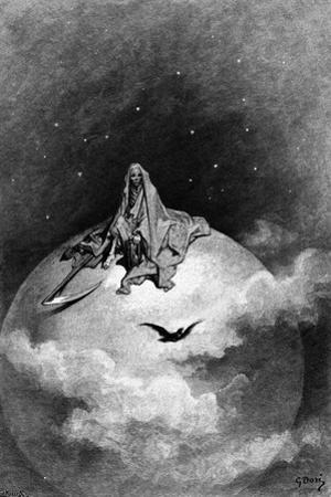 Illustration from Edgar Allan Poe's 'The Raven', 1882 by Gustave Doré