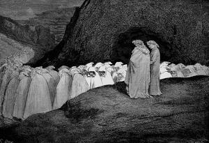 "Gustave Doré (Illustration to Dante's ""Divine Comedy,"" Inferno - Hypocrasy) Art Poster Print"