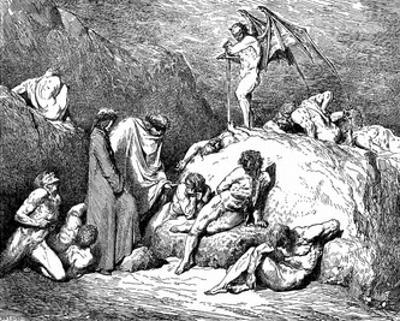 "Gustave Doré (Illustration to Dante's ""Divine Comedy,"" Inferno - Sowers of Dischord) Art Poster Pri"