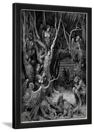 "Gustave Doré (Illustration to Dante's ""Divine Comedy,"" Inferno - Suicides) Art Poster Print"