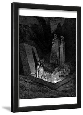 "Gustave Doré (Illustration to Dante's ""Divine Comedy,"" Inferno - The Heretics) Art Poster Print"