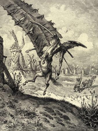 Illustration to the Book Don Quixote De La Mancha by M. De Cervantes, 1863 by Gustave Doré