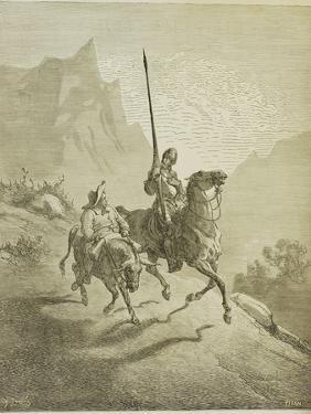 Illustration to the Book Don Quixote De La Mancha by M. De Cervantes, 1863 by Gustave Doré