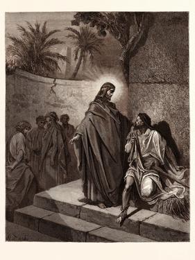 Jesus Healing the Man Sick of the Palsy by Gustave Dore