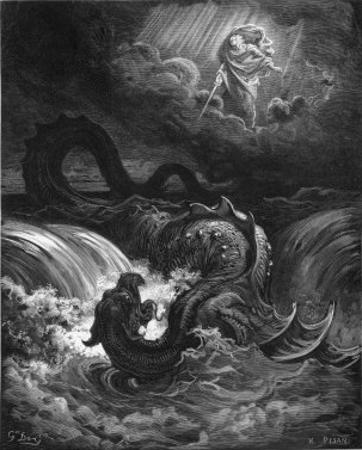 Leviathan by Gustave Doré