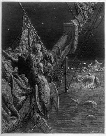 Mariner Watersnakes by Gustave Doré