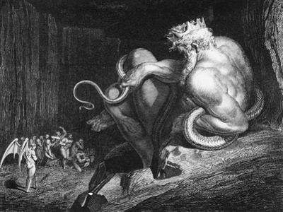 "Minos, King of Crete, Illustration from ""The Divine Comedy"" by Dante Alighieri by Gustave Doré"
