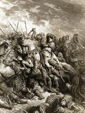 Richard I and Saladin in Battle of Acre, 1191 by Gustave Doré