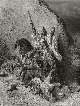 Saladin Yusuf (D.1173) Sultan During Second Crusade, Illustration from 'Bibliotheque Des… by Gustave Doré