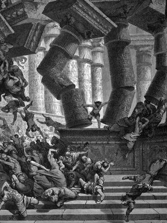 Samson Bringing Down the Temple of Dagon, 1866