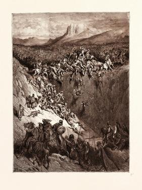 Samson Destroying the Philistines with the Jawbone of an Ass by Gustave Dore