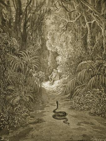 Satan As a Serpent Enters Paradise by Gustave Doré