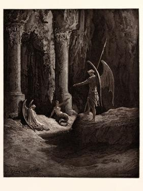 Satan at the Gates of Hell by Gustave Dore