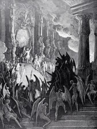 Satan in Council, from Book I of 'Paradise Lost' by John Milton (1608-74) Engraved by Stephane… by Gustave Doré