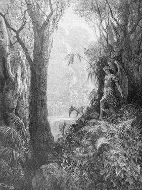 Satan in Paradise, from Book IV of 'Paradise Lost' by John Milton (1608-74) Engraved by Charles… by Gustave Doré