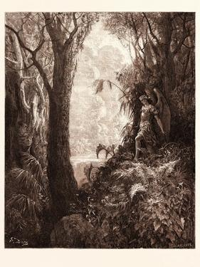 Satan in Paradise by Gustave Dore