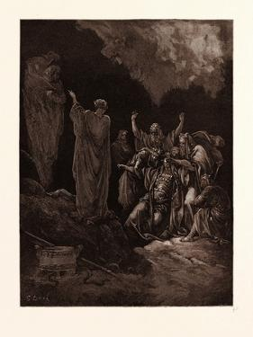 Saul and the Witch of Endor by Gustave Dore
