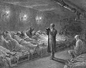 Scripture Reading in a Night Refuge by Gustave Doré