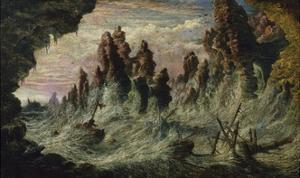 Shipwrecked Boats Battling the Storm by Gustave Doré
