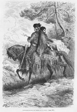 Spanish Contrabandista of Ronda and his Maja, engraved by Felix Jean Gauchard by Gustave Doré