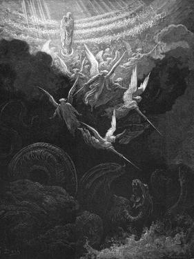 The Archangel Michael and His Angels Fighting the Dragon, 1865-1866 by Gustave Doré