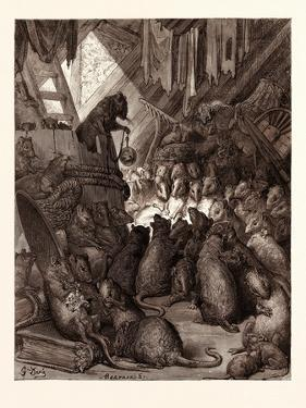 The Council Held by the Rats by Gustave Dore