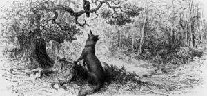 "The Crow and the Fox, from ""Fables"" by Jean de La Fontaine by Gustave Doré"