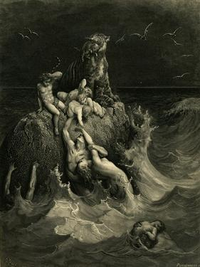 The Deluge (Frontispiece to the Illustrated Edition of the Bibl), 1866 by Gustave Doré