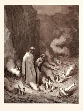 The Punishment of Simonists by Gustave Dore