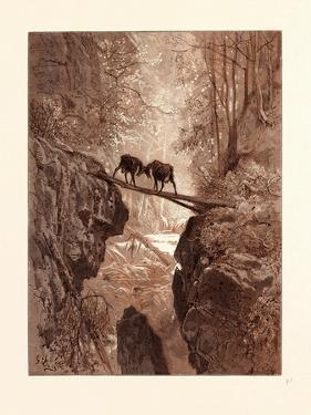 The Two Goats by Gustave Dore
