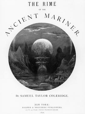 Title Page from 'The Rime of the Ancient Mariner' by S.T. Coleridge, Published by Harper and Brothe by Gustave Doré