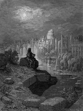 Victorian London Docks engraving by Gustave Doré by Gustave Dore