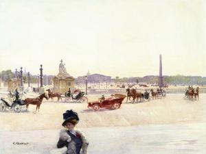 Paris, Place De La Concorde by Gustave Fraipont