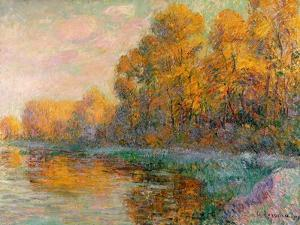 A River in Autumn, 1909 by Gustave Loiseau