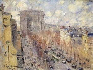 Avenue Friedland, Paris, 1925 by Gustave Loiseau