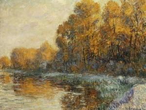 Edge of the River in Autumn; Bords De Riviere En Automne, 1912 by Gustave Loiseau