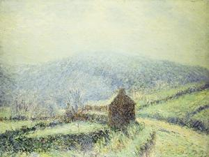 Hoar Frost at Huelgoat, Finistere; Gelee Blanche Au Houelgouat Finistere, 1903 by Gustave Loiseau