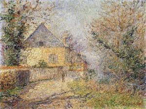 Houses on the Banks of the L'Eure, Louviers; Maisons Au Bord De L'Eure, Louviers, 1902 by Gustave Loiseau